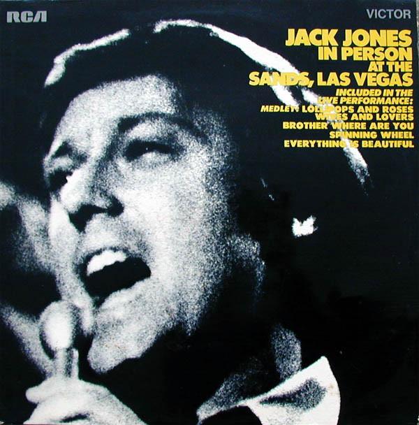 JACK JONES - Jack Jones In Person At The Sands Las Vegas - LP