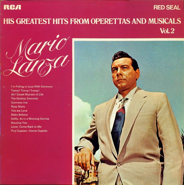 MARIO LANZA - His Greatest Hits From Operettas And Musicals Vol. 2 - LP