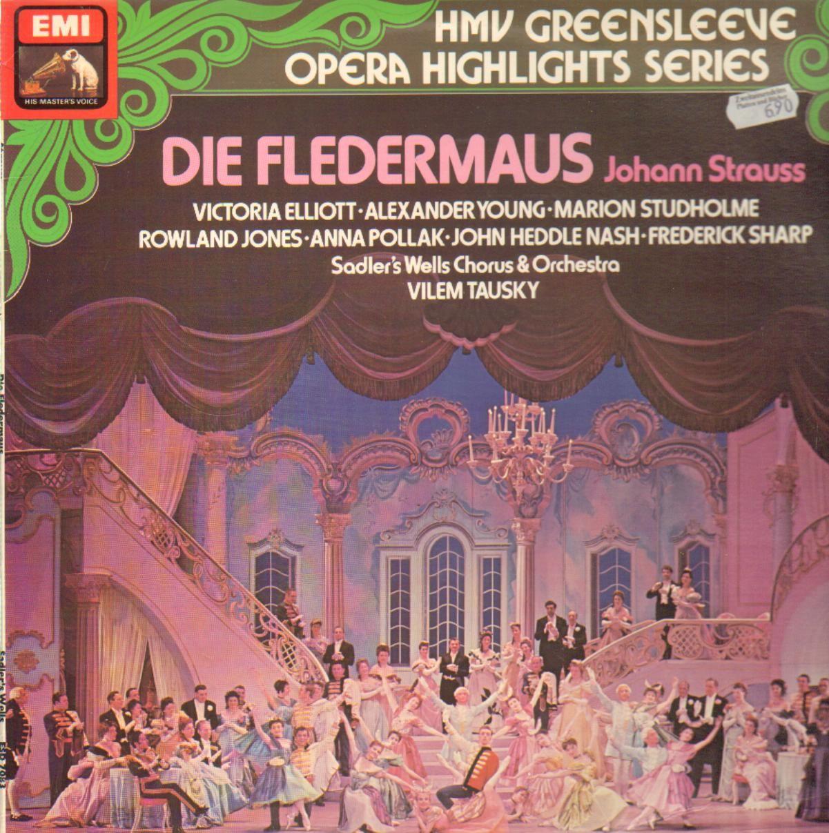 Sadler's Wells Opera Company Vilem Tausky - Johann Die Fledermaus