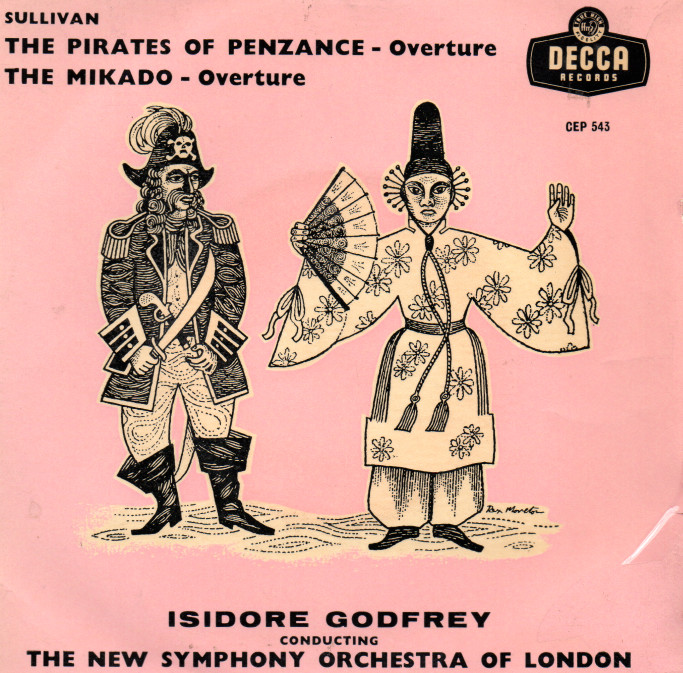 Isidore Godfrey Conducting The New Symphony Orches The Pirates Of Penzance - Overture The Mikado - Overure
