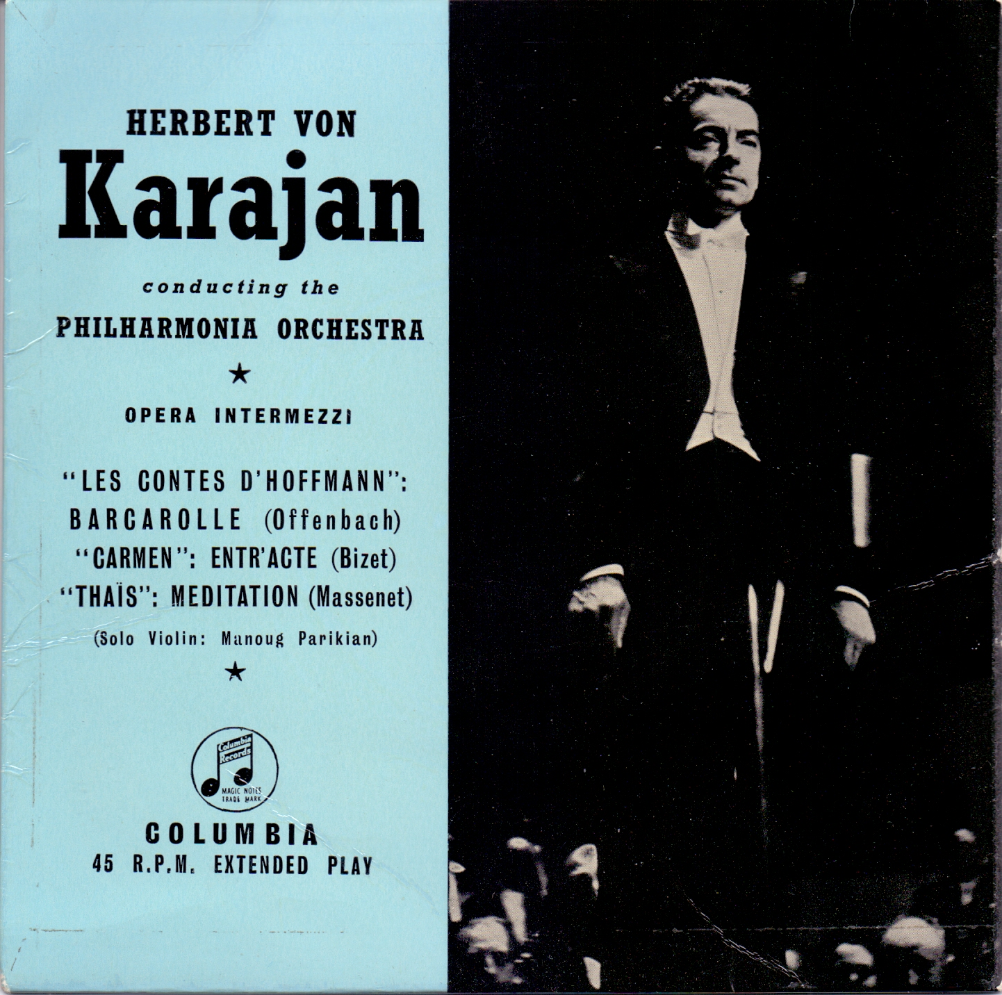HERBERT VON KARAJAN CONDUCTING THE PHILHARMONIA OR - Opera Intermezzi - 45T x 1