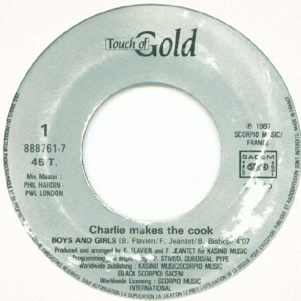 CHARLIE MAKES THE COOK - Boys And Girls - 7inch x 1