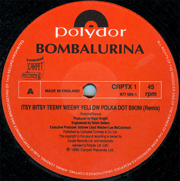 BOMBALURINA - Itsy Bitsy Teeny Weeny Yellow Polka Dot Bikini - 12 inch x 1