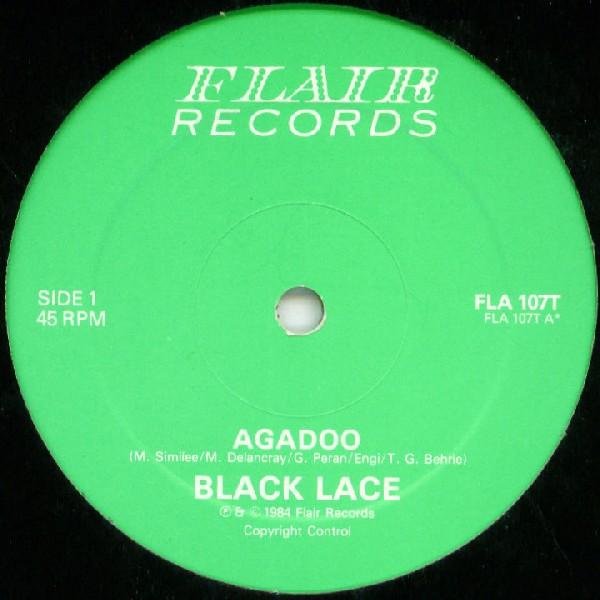 BLACK LACE - Agadoo - 12 inch x 1