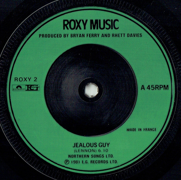 ROXY MUSIC - Jealous Guy - 7inch x 1