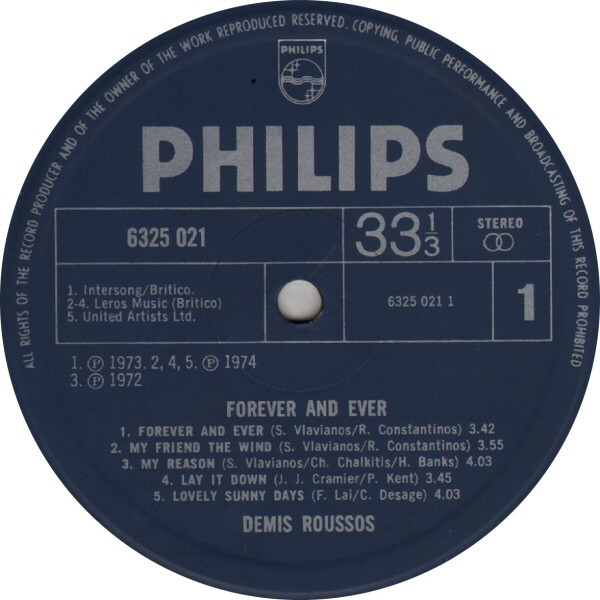 DEMIS ROUSSOS - Forever And Ever - LP