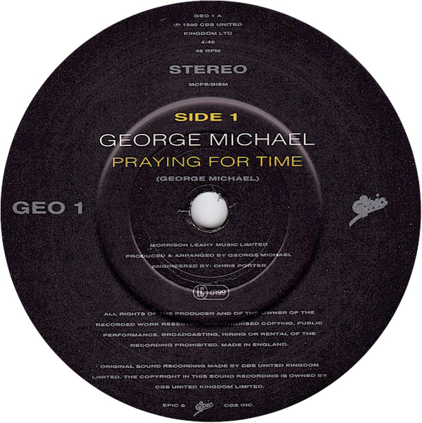 GEORGE MICHAEL - Praying For Time - 45T x 1