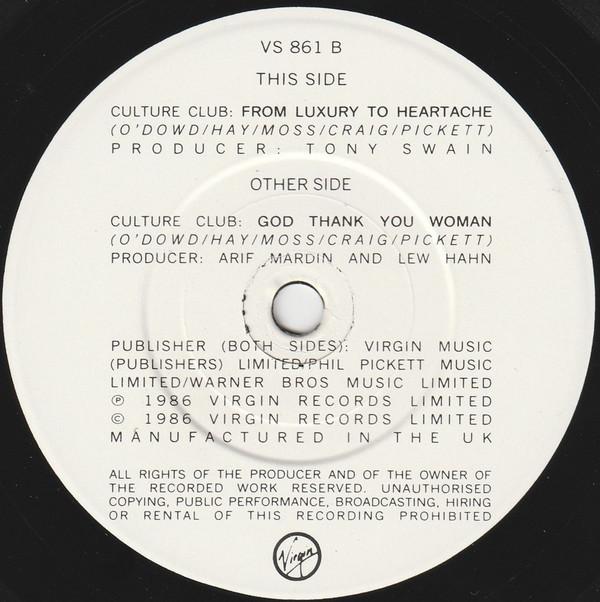 CULTURE CLUB - God Thank You Woman - 45T x 1