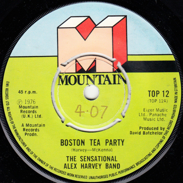 THE SENSATIONAL ALEX HARVEY BAND - Boston Tea Party - 7inch x 1