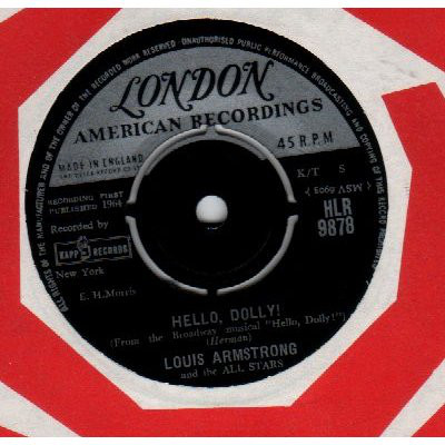 LOUIS ARMSTRONG AND HIS ALL-STARS - Hello Dolly! - 45T x 1