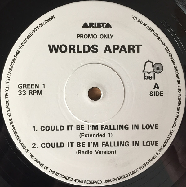 WORLDS APART - Could It Be I'm Falling In Love - 12 inch x 1