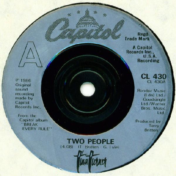 TINA TURNER - Two People - 7inch x 1