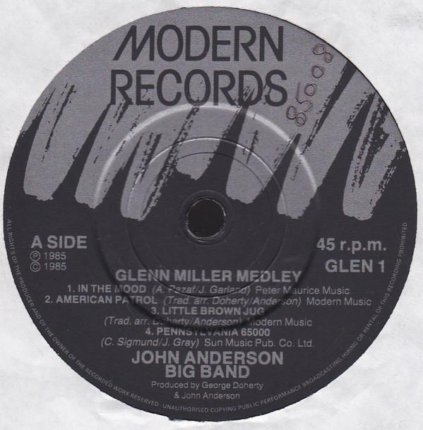 THE JOHN ANDERSON BAND - Plays Glenn Miller - 45T x 1