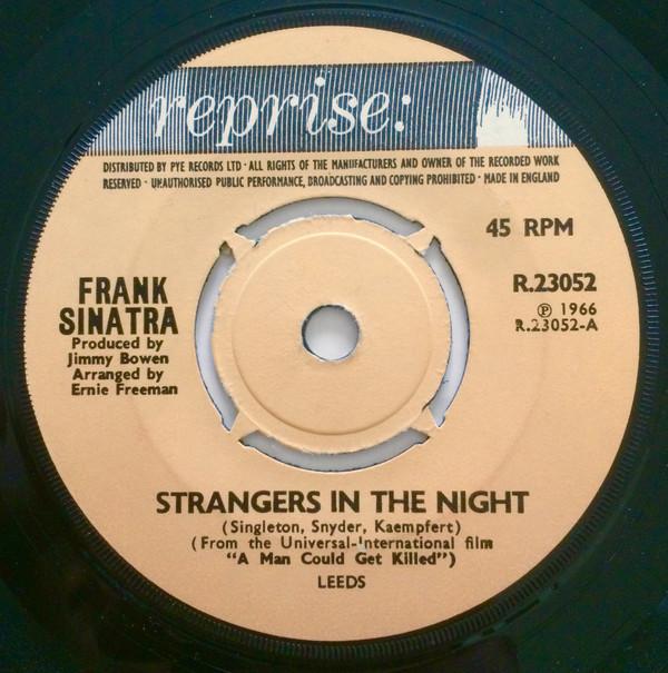 FRANK SINATRA - Strangers In The Night - 45T x 1