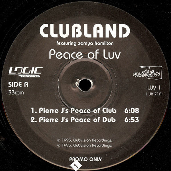 CLUBLAND  FEATURING ZEMYA HAMILTON - Peace Of Luv - Maxi x 1