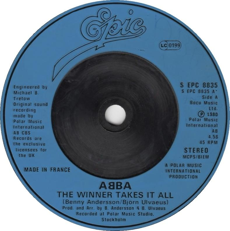 ABBA - The Winner Takes It All - 7inch x 1