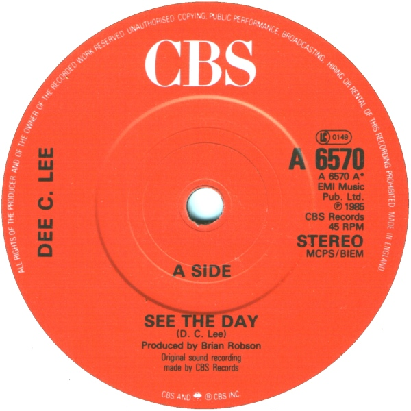 DEE C. LEE - See The Day c/w The Paris Match - 45T x 1