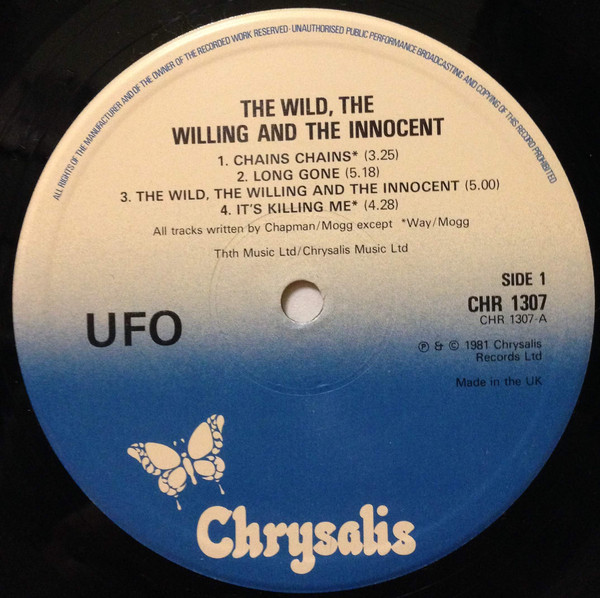 UFO - The Wild The Willing And The Innocent - 33T