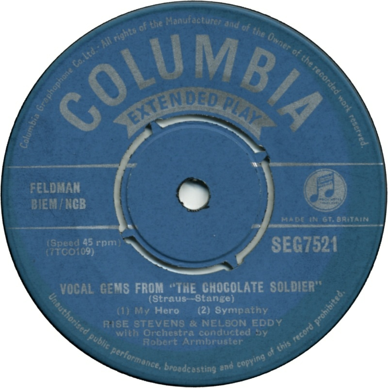 Risë Stevens And Nelson Eddy Vocal Gems From The Chocolate Soldier