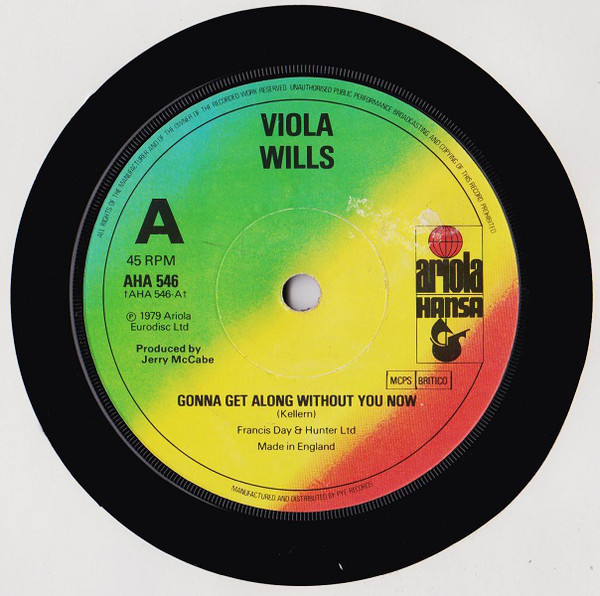 VIOLA WILLS - Gonna Get Along Without You Now - 45T x 1