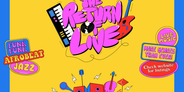 Live Music Returns 01 Sep - 31 Oct
