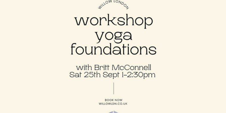 Workshop Yoga Foundations 25 Sep