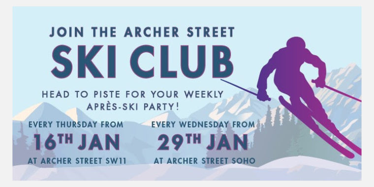 The Archer Street Ski Club Meets 30 Jan - 27 Feb