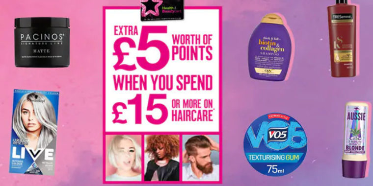 Extra £5 worth of points 11 Aug
