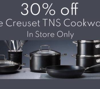 30% Le Creuset Cookware