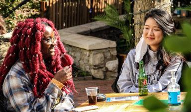 Visiting Lion Walks Secret Garden 22 Apr