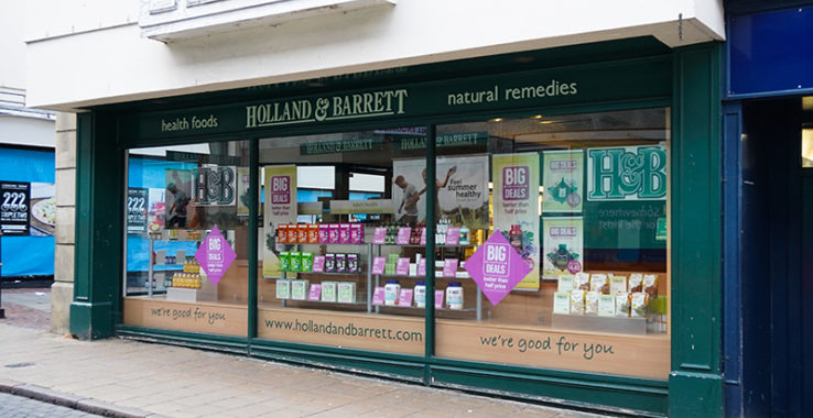 Holland and Barrett Shopping