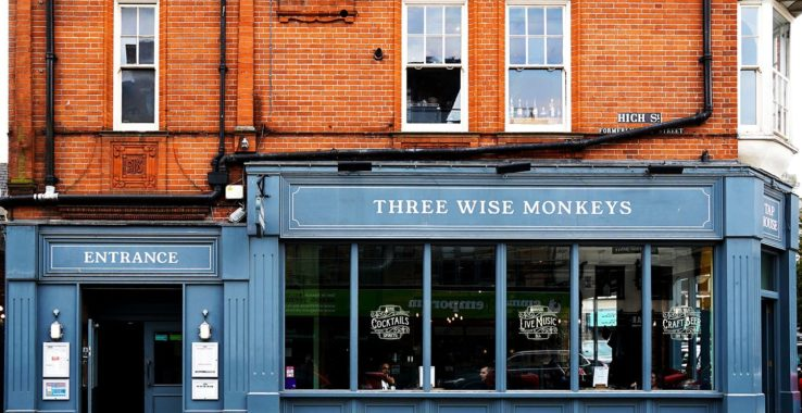 Three Wise Monkeys Eat & Drink