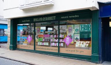Holland and Barrett Shopping