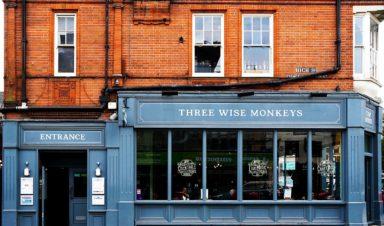 Three Wise Monkeys Eat & Drink