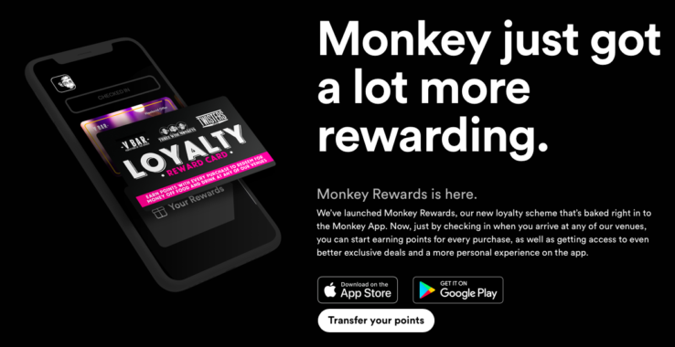 Three Wise Monkey Reward Card at Three Wise Monkeys