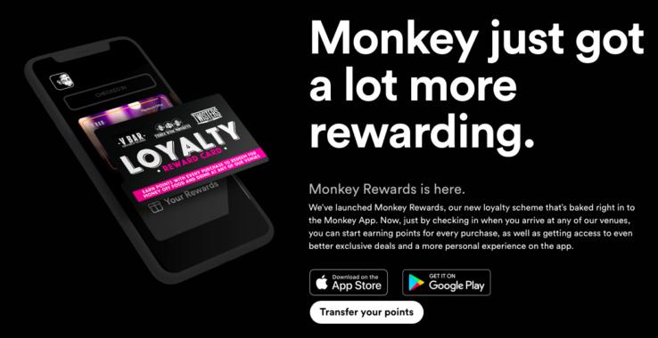 Three Wise Monkey Reward Card at Three Wise Monkeys