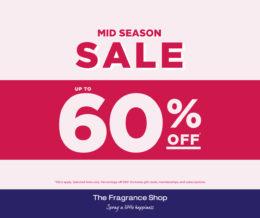 Mid Season Sale at The Fragrance Shop