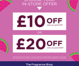 In store offer at The Fragrance Shop at The Fragrance Shop