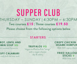 The Supper Club at Bill's at Bill's