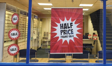 Half Price Frames at Scrivens Opticians
