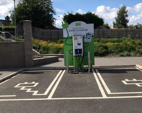 Knaresborough Lidl EV charging points