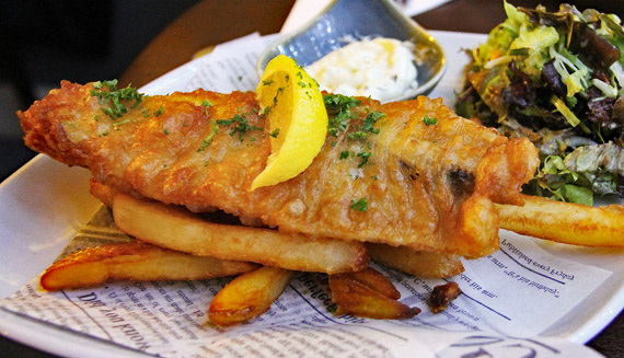 Content Fish and chips