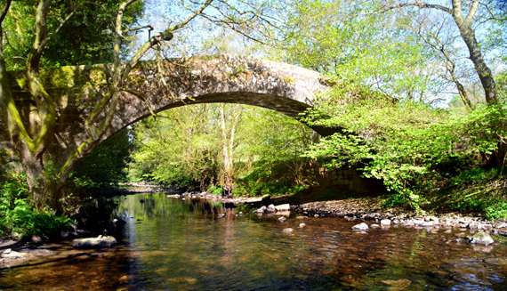 Content Washburn packhorse bridge