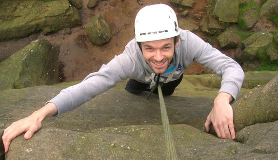Content outdoor climbing instruction