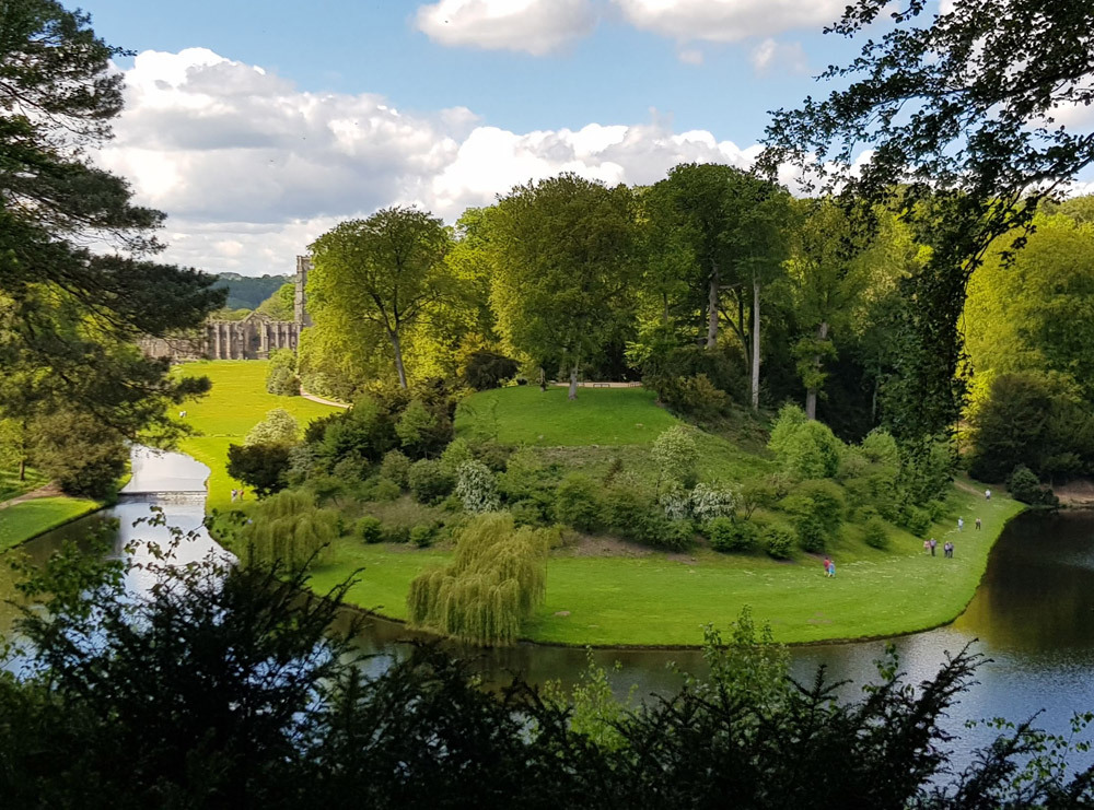 Studley Royal Water Garden from surprise view