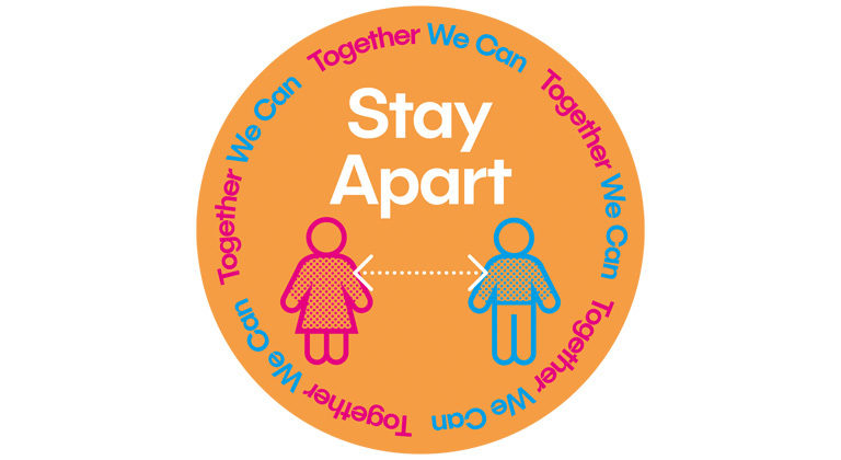 STAY APART 45cm floor circle [CURRENTLY OUT OF STOCK]