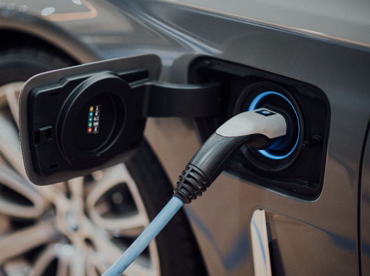 Electric car vehicle charger banner 750x560 px