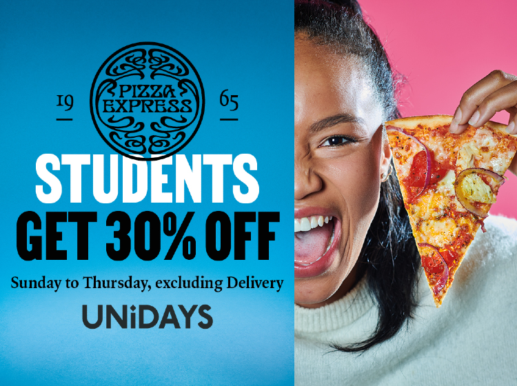 30% Student Discount at PizzaExpress
