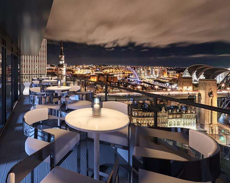ABOVE rooftop bar and restaurant Newcastle