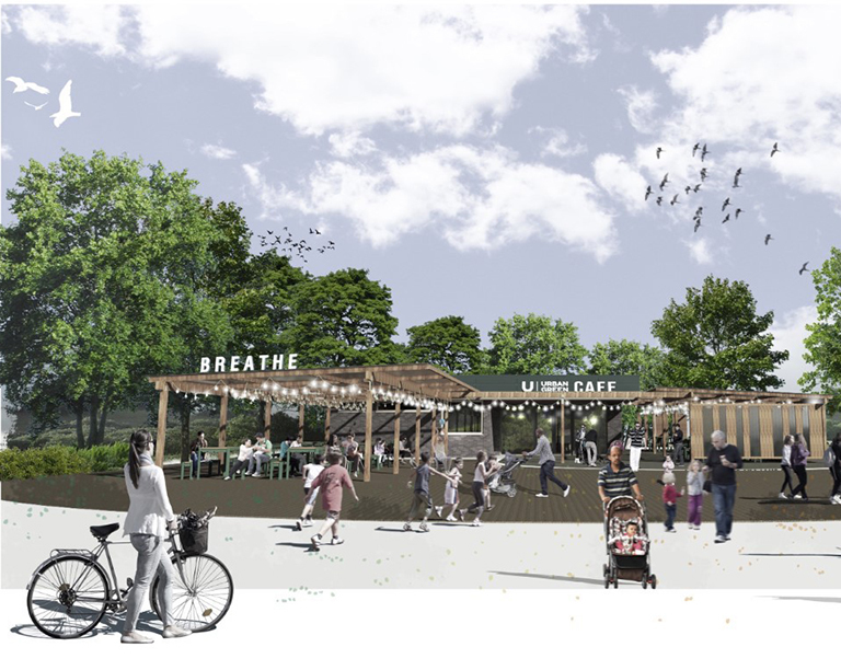 Urban green newcastle Exhibition Park Cafe